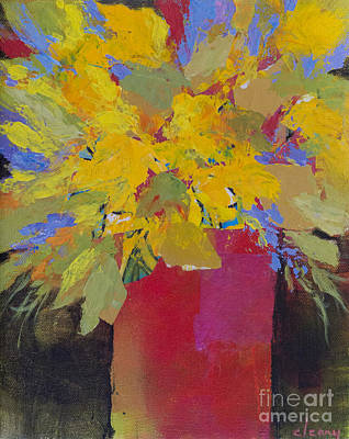 Painting - Yellow Bouquet by Melody Cleary