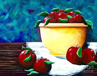 Painting - Yellow Bowl Of Apples by Jennifer Lake