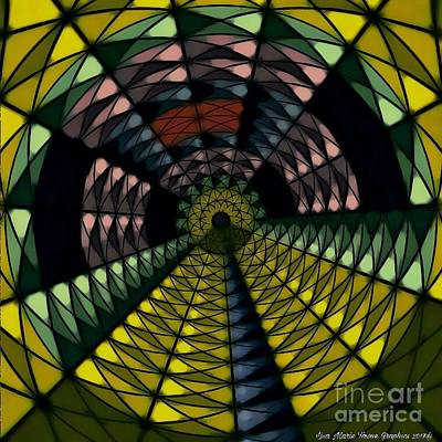 Wall Art - Digital Art - Yellow Brick Road by Lisa Marie Towne