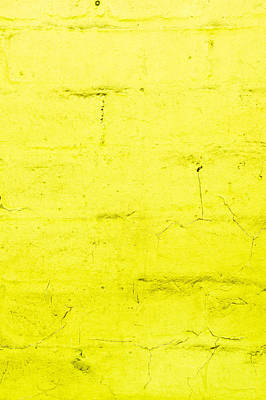 Color Block Photograph - Yellow Brick Wall by Tom Gowanlock