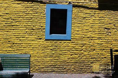 Yellow Brick Window Art Print