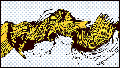 Digital Art - Yellow Brush Stroke by Gary Grayson