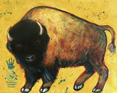 Yellow Buffalo Art Print