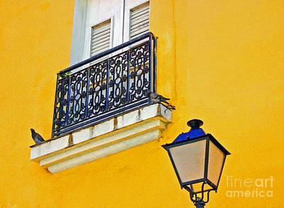 Yellow Building Art Print by Debbi Granruth