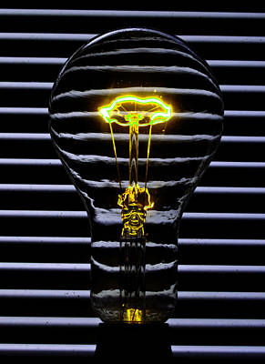 Dimmer Switch Photograph - Yellow Bulb by Rob Hawkins