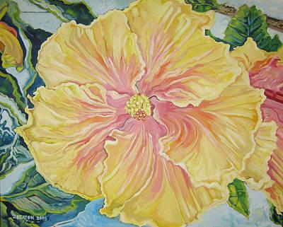 Yellow Burst Art Print by John Keaton
