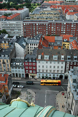 Photograph - Yellow Bus In Copenhagen Denmark by Mary Lee Dereske