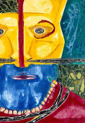 Representative Abstract Painting - Yellow Bushman by David Raderstorf