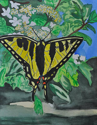 Butterfly Painting - Yellow Butterfly by JAMART Photography