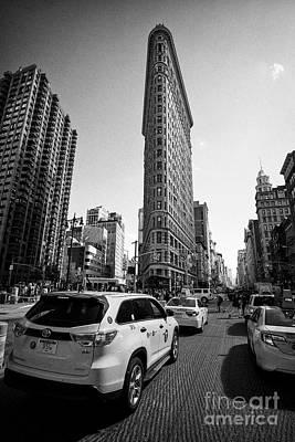 yellow cabs and the flatiron originally the fuller building manhattan New York City USA Art Print