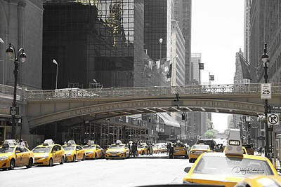 Photograph - Yellow Cabs by Debby Richards