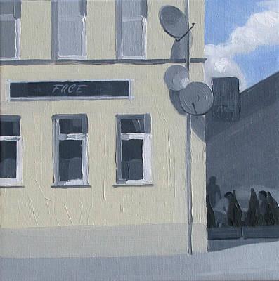 Painting - Yellow Cafe by Lena Krasotina