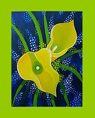 Painting - Yellow Callas by Helena Tiainen