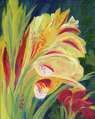 Yellow Canna Original by Judy Regnier