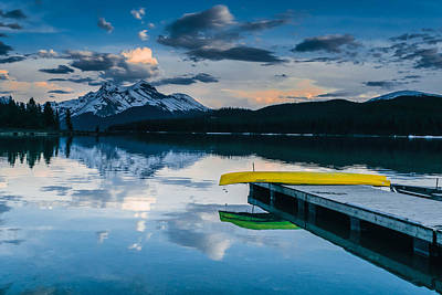 Canoe Photograph - Yellow Canoe by Britten Adams