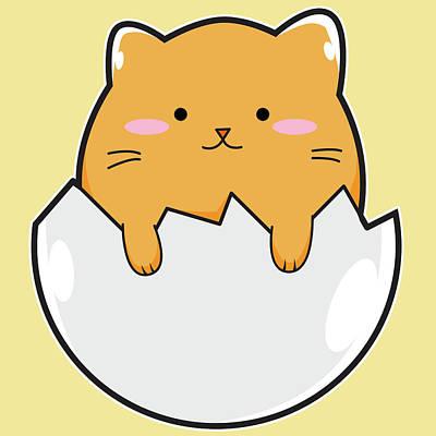 Yellow Cat Egg Original