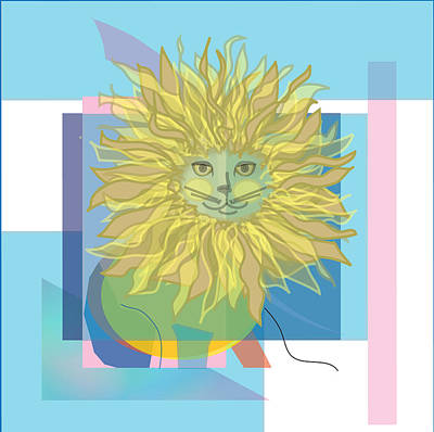 Yellow Cat Art Print by Susan Nelson