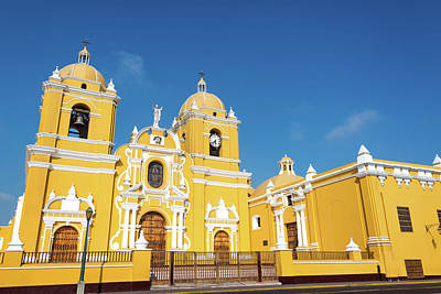 Yellow Cathedral In Trujillo, Peru Art Print by Jess Kraft