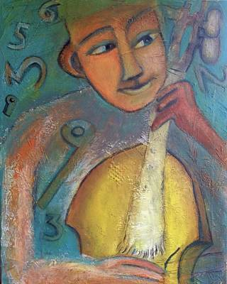 Yellow Cello Art Print by Suzy Norris