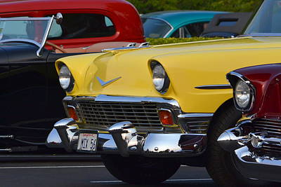 Photograph - Yellow Chevy by Dean Ferreira