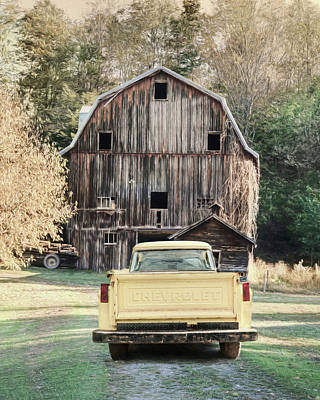 Photograph - Yellow Chevy by Lori Deiter