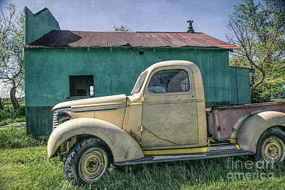 Photograph - Yellow Chevy Pickup by Lynn Sprowl