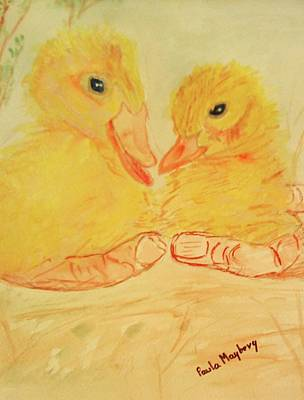 Painting - Yellow Chicks by Paula Maybery