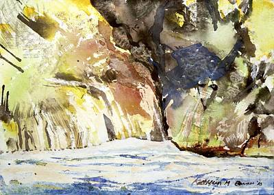 Painting - Yellow Cliffs by Kathleen Barnes