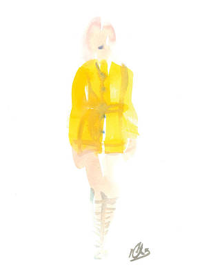 Yellow Coat Art Print by Carl Griffasi