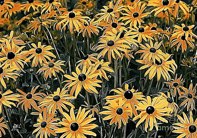 Photograph - Yellow Coneflowers by Erica Hanel