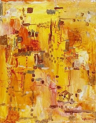 Yellow Conundrum Original by Regina Valluzzi