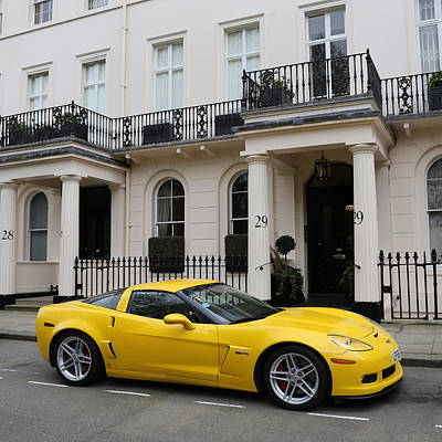 Photograph - Yellow Corvette 2 by Andrew Fare