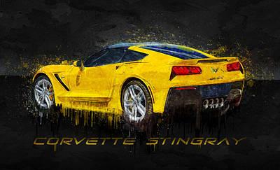 Photograph - Yellow Corvette Stingray by Ray Van Gundy