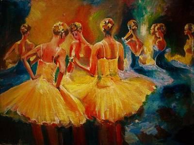 Yellow Costumes Art Print