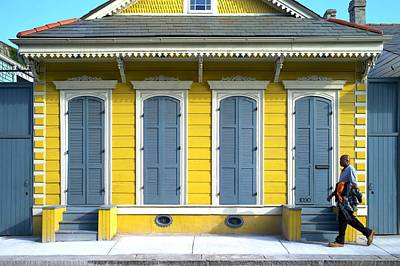 Creole Cottage Wall Art - Photograph - Yellow Cottage - French Quarter by Bruce Barielle