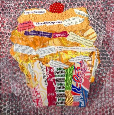 Mcdonalds Mixed Media - Yellow Cupcake by Sandy Karsten