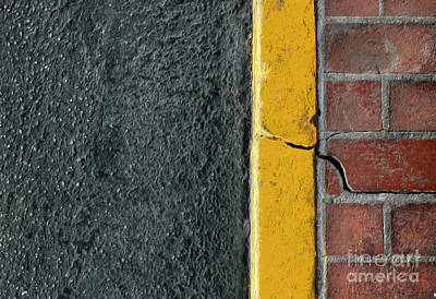 Yellow Curb Art Print by Dan Holm