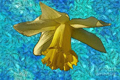 Yellow Daffodil 3 Print by Jean Bernard Roussilhe