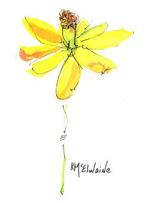Painting - Yellow Daffodil Flower by Kathleen McElwaine