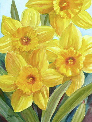 Painting - Yellow Daffodils by Janet Zeh