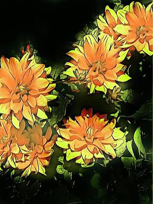 Painting - Yellow Dahlias by Anne Sands
