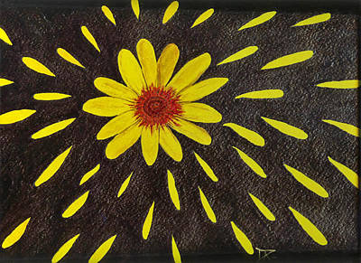 Painting - Yellow Daisy by Donald Paczynski