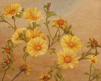 Daisy Painting - Yellow Daisies by Angeles M Pomata