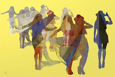 Digital Art - Yellow Dance by Victor Shelley