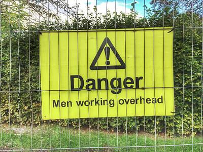 Legislation Photograph - Yellow Danger Sign by Tom Gowanlock