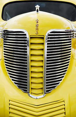 Yellow Desoto Grill Art Print by Patrick Chuprina