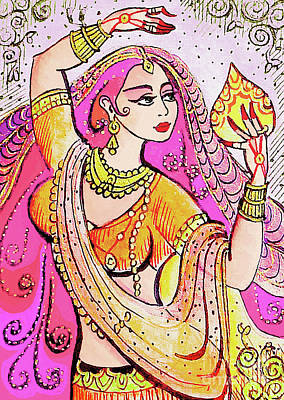 Painting - Yellow Devi by Eva Campbell