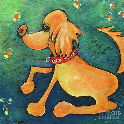 Painting - Yellow Dog by Cindy DeGraw
