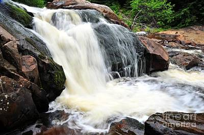 Photograph - Yellow Dog Falls In Michigan Upper Peninsula by Terri Gostola
