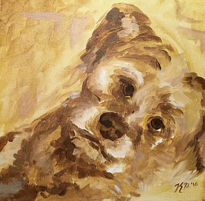 Yellow Dog Original by Kendra Phillips